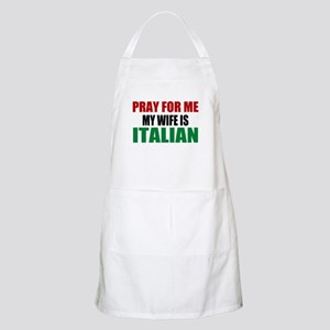 Pray Wife Italian Apron