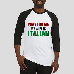 Pray Wife Italian Baseball Jersey