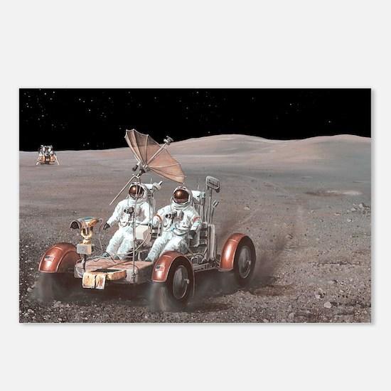 Apollo lunar rover, artwork - Postcards (Pk of 8)