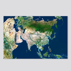 Asia, satellite image - Postcards (Pk of 8)