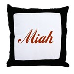 Miah name Throw Pillow