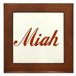 Miah name Framed Tile
