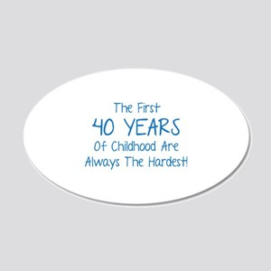 The First 40 Years Of Childhood 22x14 Oval Wall Pe
