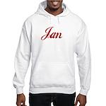 Jan name Hooded Sweatshirt