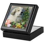 Great Pyrenees Keepsake Box Christmas Puppy