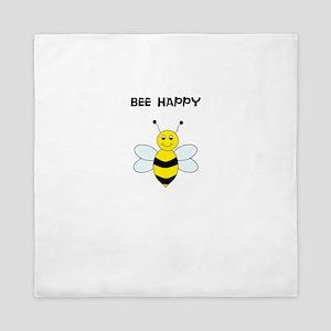 Bee Happy T Shirt Queen Duvet