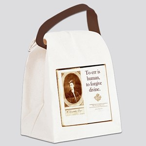 To Err Is Human - Alexander Pope Canvas Lunch Bag