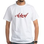 Ashraf name White T-Shirt