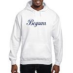 Begum name (Blue) Hooded Sweatshirt