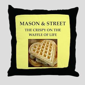 mason and street Throw Pillow