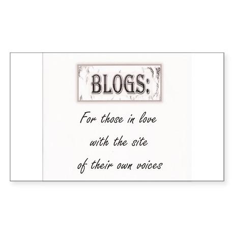 Anti blog sentiment Sticker (Rectangle)
