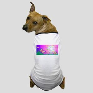Sun Butterflies Dog T-Shirt
