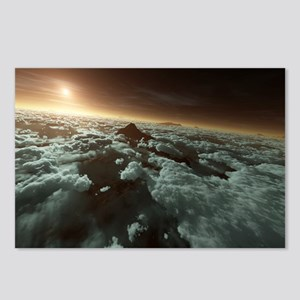 Mars with clouds, artwork - Postcards (Pk of 8)