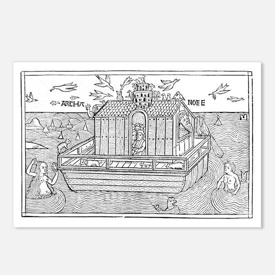 Noah's Ark, 16th-century bible - Postcards (Pk of