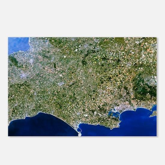 Satellite image of southwest England - Postcards (