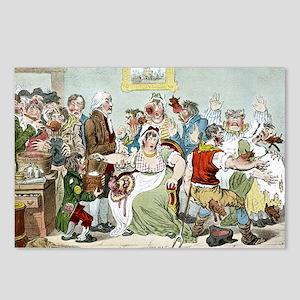 Smallpox vaccination, satirical artwork - Postcard