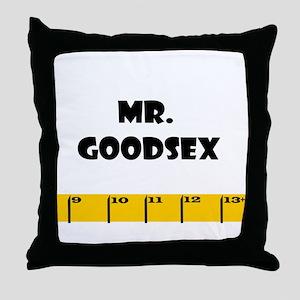 Ruler Mr. Goodsex Throw Pillow