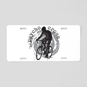 Psycho-Cross Aluminum License Plate