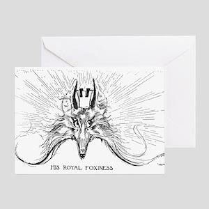 The Fox King of Oz Greeting Card
