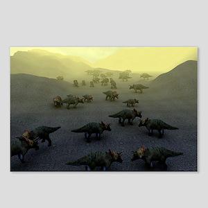 Triceratops dinosaurs - Postcards (Pk of 8)