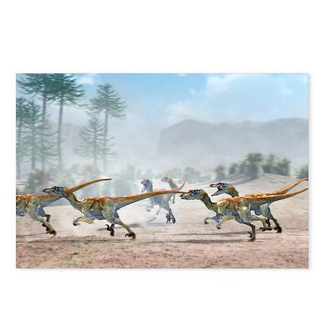 Velociraptor dinosaurs - Postcards (Pk of 8)