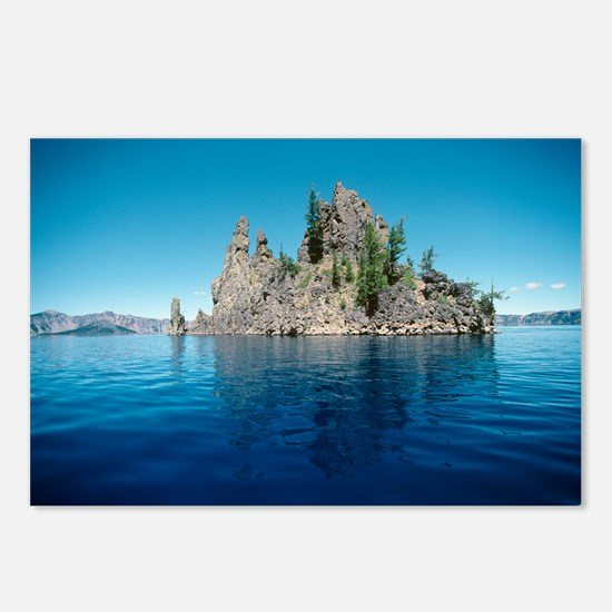 Volcanic rock formation, Crater Lake - Postcards (