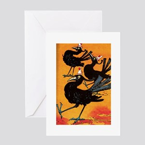 Oz Crows Greeting Card