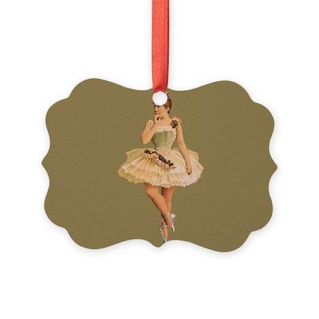 Vintage Ballet Dancer Picture Ornament