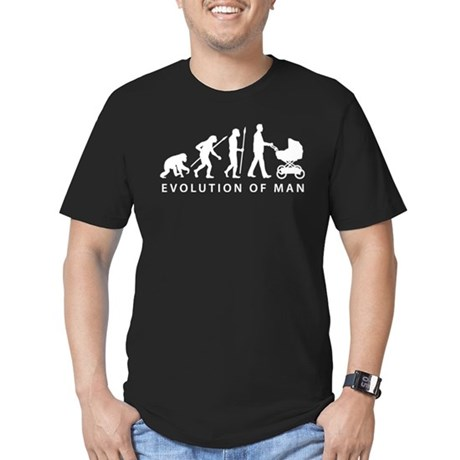evolution of man with a buggy Men's Fitted T-Shirt