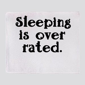sleeping is over rated. fancy font Stadium Bl
