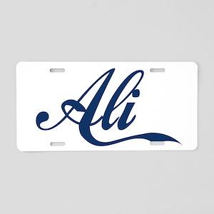 Ali name (Blue) Aluminum License Plate