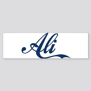 Ali name (Blue) Sticker (Bumper)