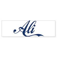 Ali name (Blue) Sticker (Bumper)
