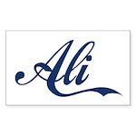 Ali name (Blue) Sticker (Rectangle)