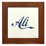 Ali Name (blue) Framed Tile