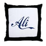 Ali name (Blue) Throw Pillow