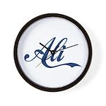 Ali name (Blue) Wall Clock