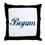 Begum name (Blue) Throw Pillow