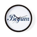 Begum name (Blue) Wall Clock