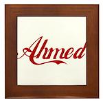 Ahmed name Framed Tile