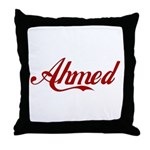 Ahmed name Throw Pillow