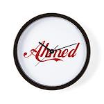 Ahmed name Wall Clock