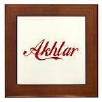 Akhtar Name Framed Tile