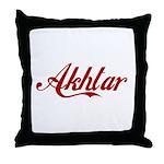 Akhtar name Throw Pillow