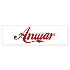 Anwar name Sticker (Bumper)