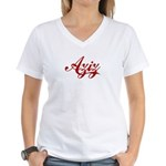 Aziz name Women's V-Neck T-Shirt
