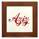 Aziz name Framed Tile