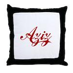 Aziz name Throw Pillow