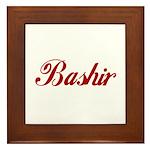 Bashir name Framed Tile