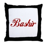 Bashir name Throw Pillow